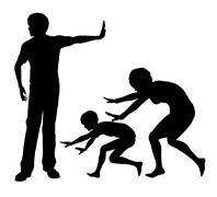 Psychological Abuse Stock Illustration