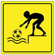 Caution No Ball Games Stock Illustration