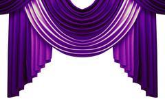 Beautiful luxury curtains isolated on white background Kuvituskuvat