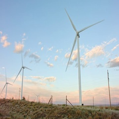 Wind Turbine MoVI M15 Shot Stock Footage