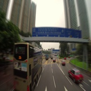 Quick Ride Through the Streets of Hong Kong City Stock Footage