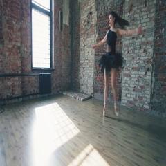 Ballerina dancing indoor, vintage. Healthy lifestyle ballet Arkistovideo