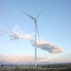 Wind Turbine Dolly Stock Footage