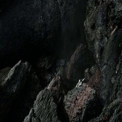 Frozen lava flow resulting from eruption Flat Tolbachik in 2012 stock footage Stock Footage