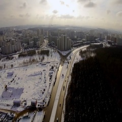 Aerial landscape of modern cityscape Stock Footage
