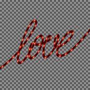 Red Neon Love SIgn. EPS 10 Stock Illustration