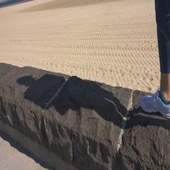 Girl Running on the Beach Stock Footage