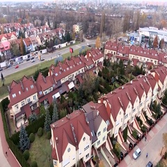Family House Drone fly Stock Footage