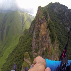 Paragliding in the Mountains Stock Footage