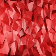 Red glossy polygonal geometric surface seamless loop 4k UHD (3840x2160) Stock Footage