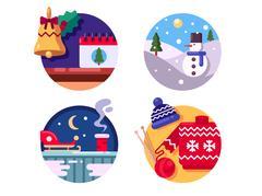 Winter fun holiday Christmas Stock Illustration
