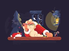 Bad Santa Claus Stock Illustration