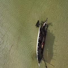 4k Aerial Shot of Ship Wreck on Irish Coast Stock Footage