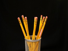 Rotate yellow pencils Stock Footage
