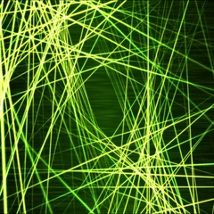 Moving through Light/Laser Beams Animation Animation - Loop Green Stock Footage