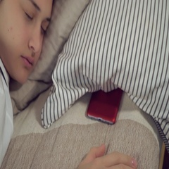 Morning with sweet dream and gadget. Stock Footage