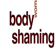Body shaming animated word cloud. Stock Footage