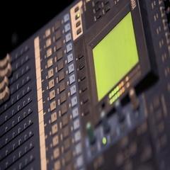 Music mixer cloese-up. Recording Studio. Music. Stock Footage