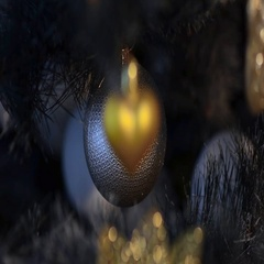 Christmas balls on the new year tree. Focus changed from foreground to backgroun Stock Footage