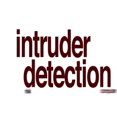 Intruder detection animated word cloud. Stock Footage