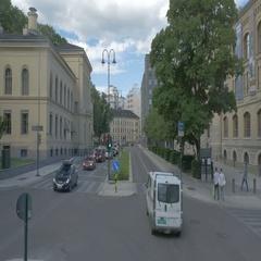 Oslo City traffic Stock Footage
