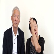 Asian senior couple comforting each other, dealing with problem together Stock Footage
