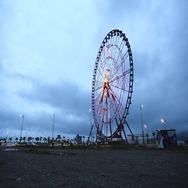 Ferris wheel in Batumi, time recording Stock Footage