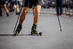 Legs men racer Stock Photos