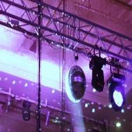 Light equipment on banquet Stock Footage