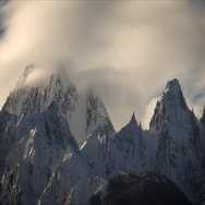Arctic Winter Peaks Icy Time Lapse Stock Footage