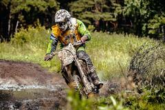 Athlete motorcyclist Stock Photos