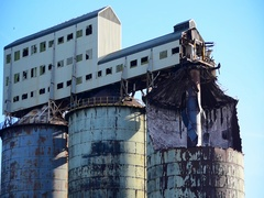 Industrial Chemical Plant Ruin Stock Footage