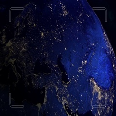 Planet Intro.USA Stock Footage