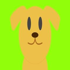 Cute cartoon style golden labrador green screen loop Stock Footage