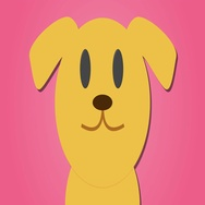 Cute cartoon style golden labrador pink loop Stock Footage