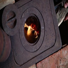 Burning In Wood Stove Stock Footage