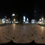 360VR video At the roundabout at the Tainan Station Stock Footage