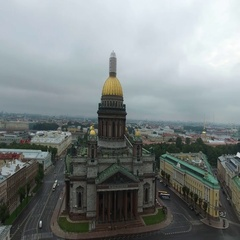 Isaacs cathedral aerial shot Stock Footage