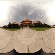 360VR video of Fo Guang Shan Monastery, main shrine Stock Footage