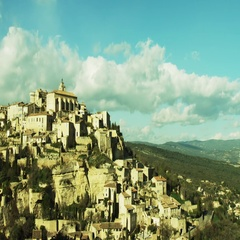 Castle at Gordes Stock Footage