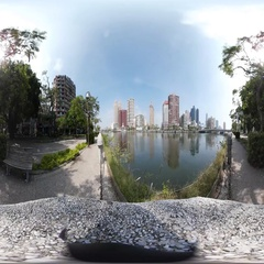 360VR video of Skyline at Love river Stock Footage