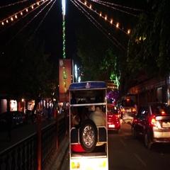 Ride through Jaipur on Diwali night Stock Footage