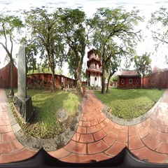 360VR video of Confucius Temple, Scholarly Temple Stock Footage