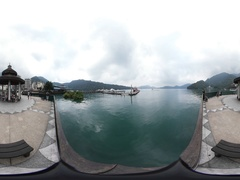 360VR video at the Yidashao Pier Stock Footage