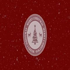 Merry Christmas Loop Stock Footage