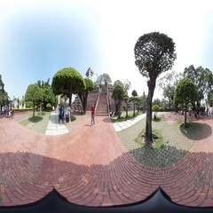 360VR video at Anping Old Fort, Fort Zeelandia Stock Footage