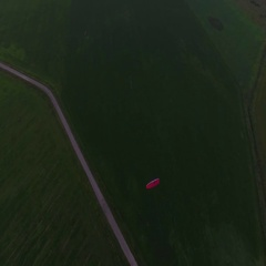 Paraplane in the air aerial shot 4k Stock Footage