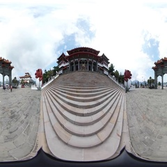 360VR video at Wenwu Temple Stock Footage