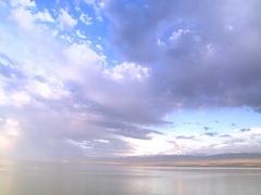 Karakul (China) Lake and Sky Stock Footage