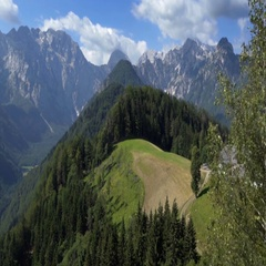 Amazing view of the mountains in the Logar Valley Stock Footage